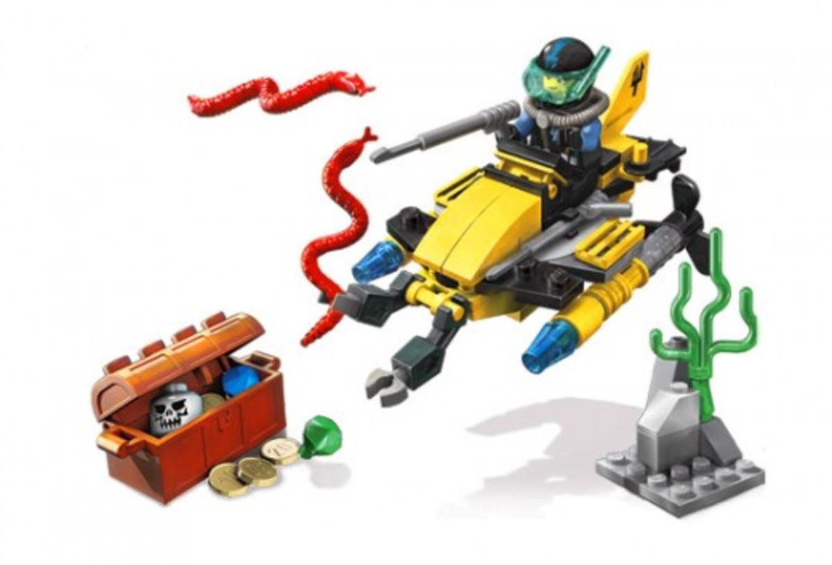 LEGO Aqua Raiders Deep Sea Treasure Hunter 7770 Assembled