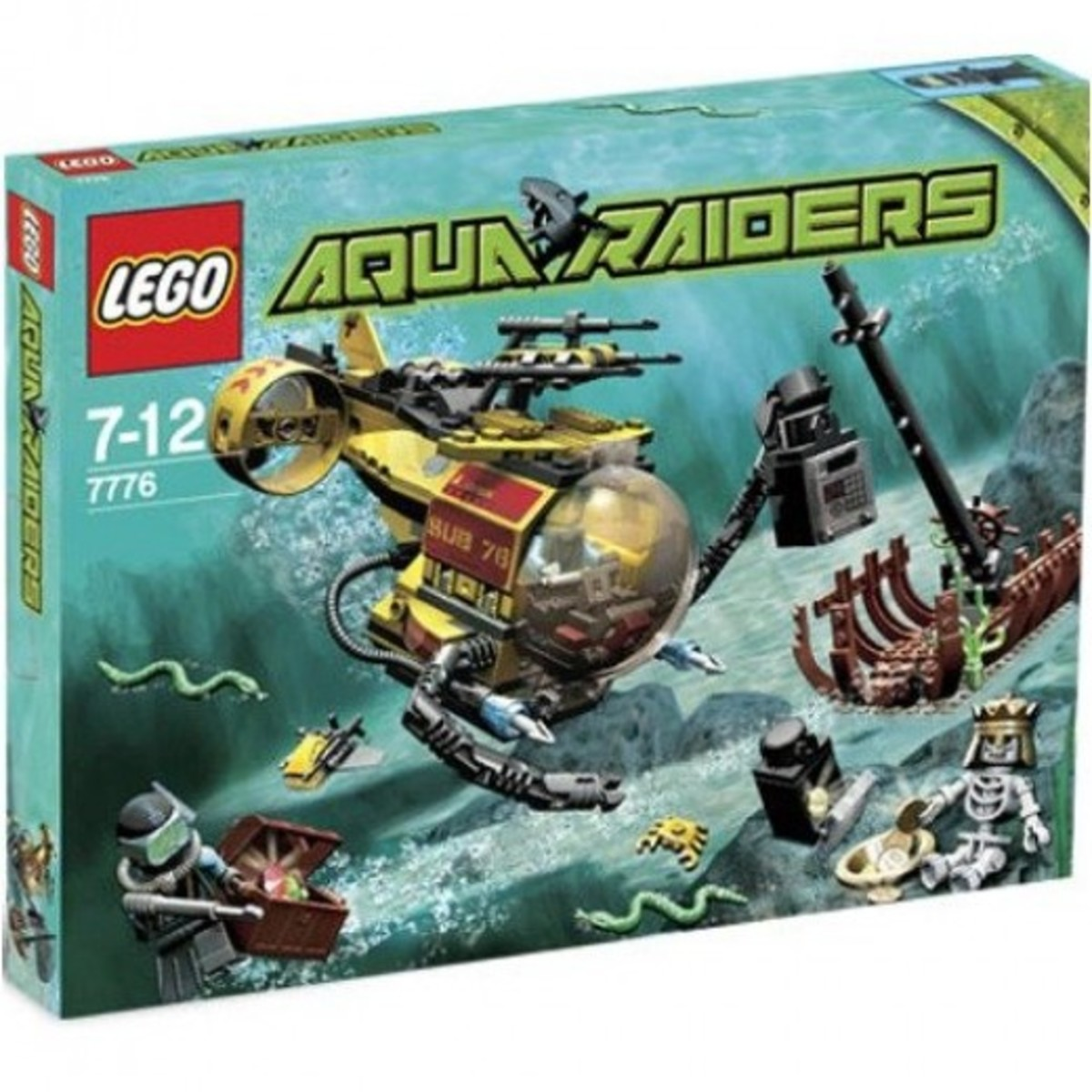 LEGO Aqua Raiders The Shipwreck 7776 Box