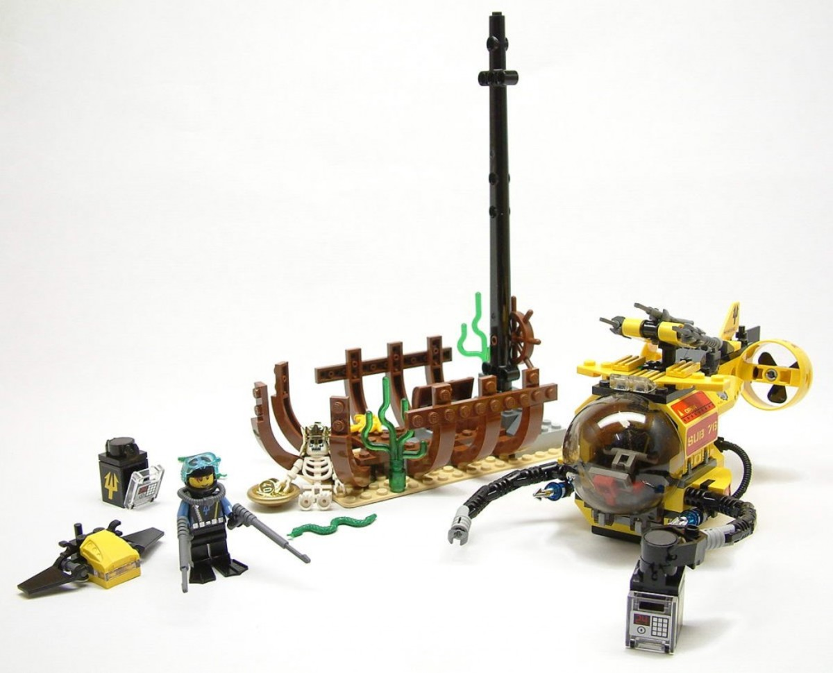 LEGO Aqua Raiders The Shipwreck 7776 Assembled