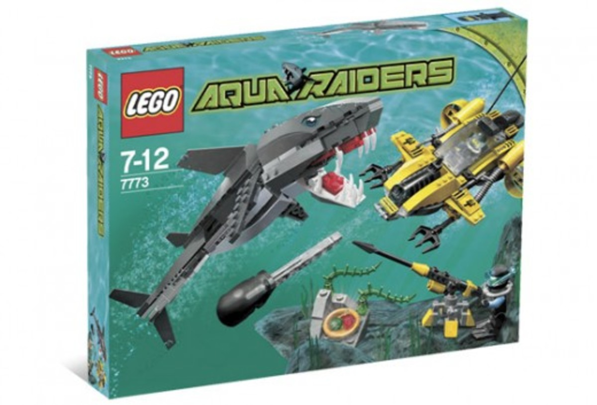 LEGO Aqua Raiders Tiger Shark Attack 7773 Box