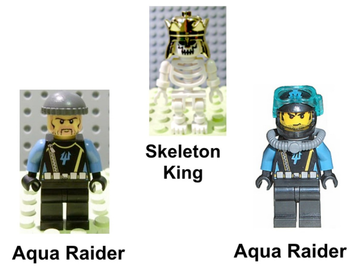 LEGO Aqua Raiders The Shipwreck 7776 Minifigures