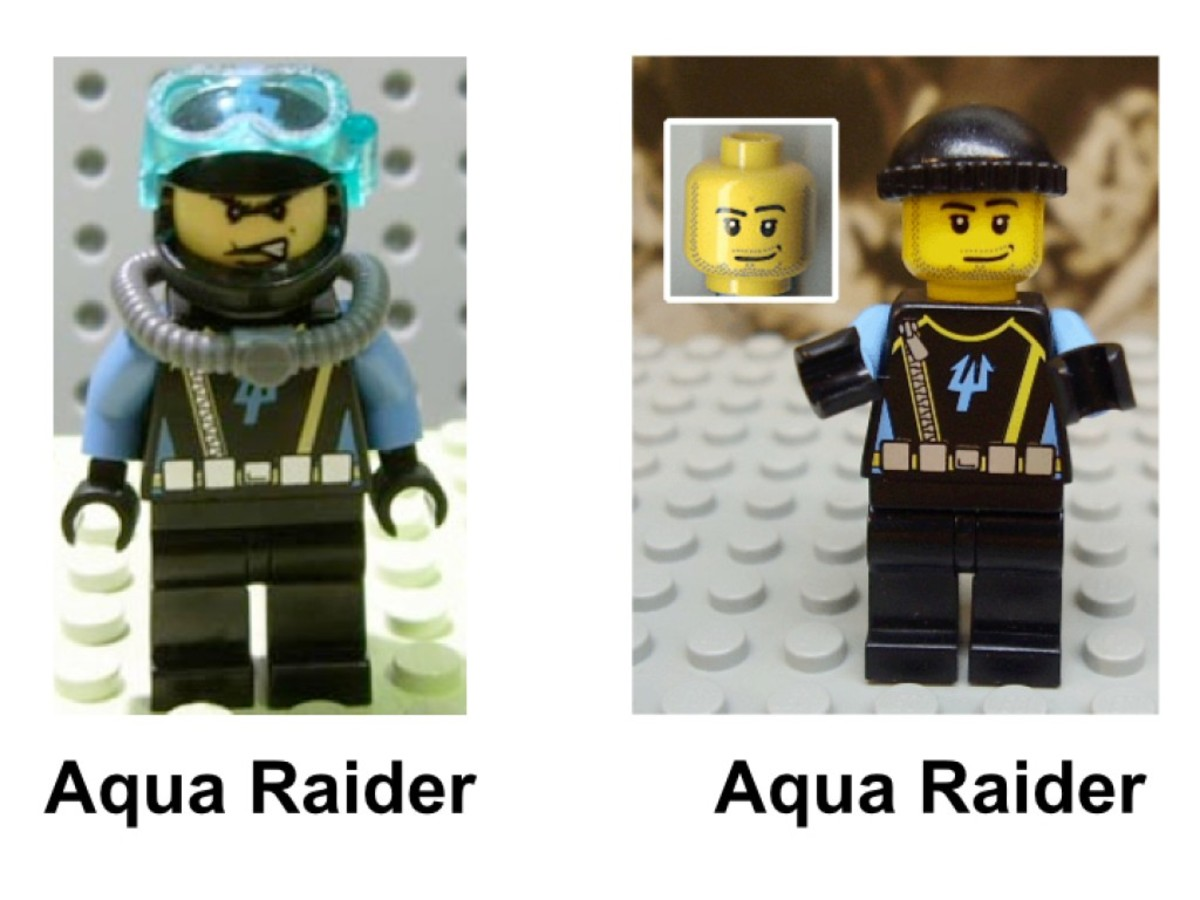 LEGO Aqua Raiders Lobster Strike 7772 Minifigures