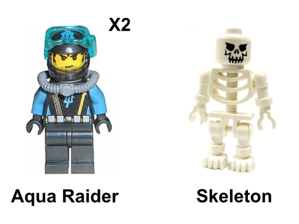 LEGO Aqua Raiders Crab Crusher 7774 Minifigures