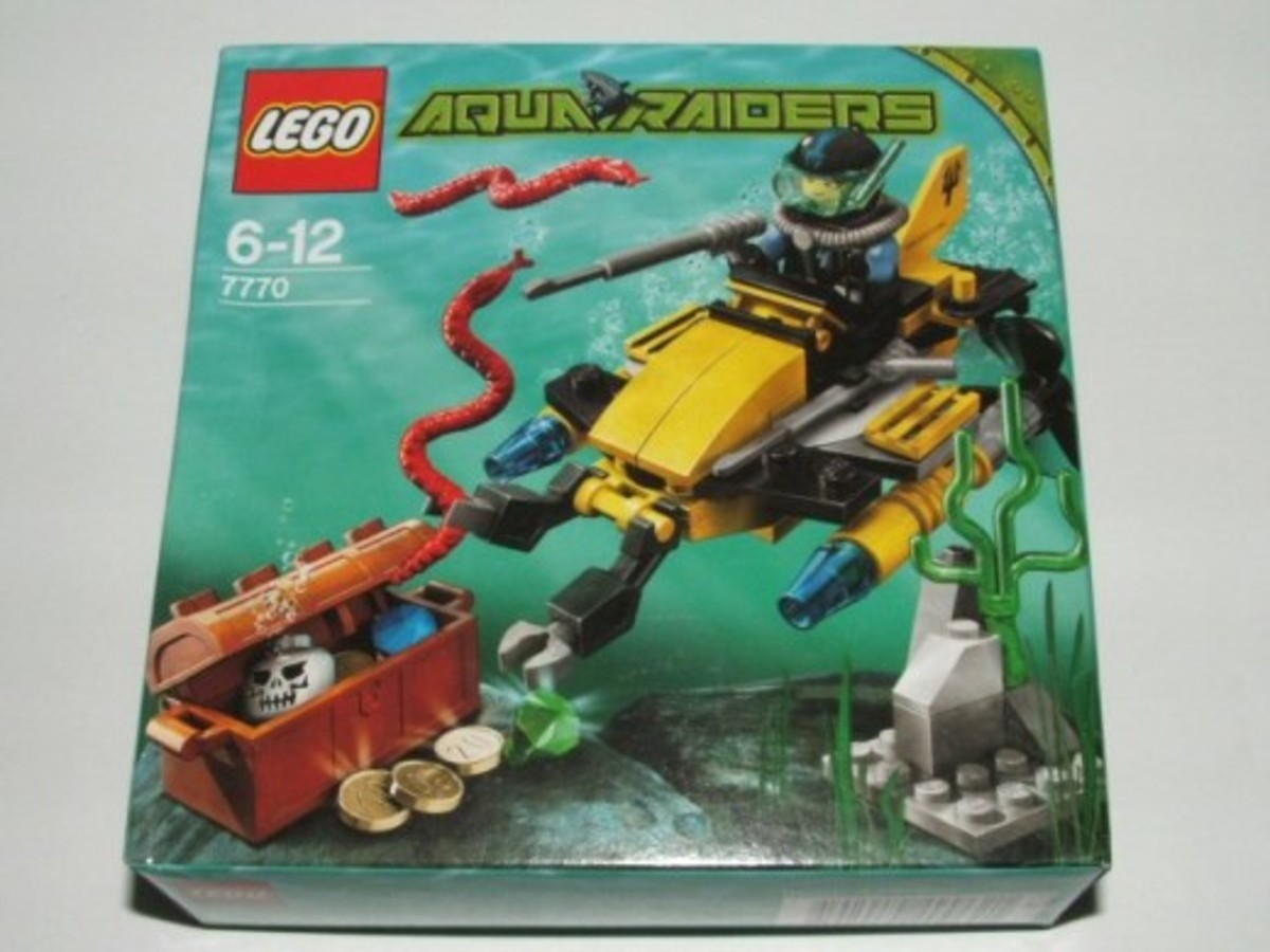 LEGO Aqua Raiders Deep Sea Treasure Hunter 7770 Box