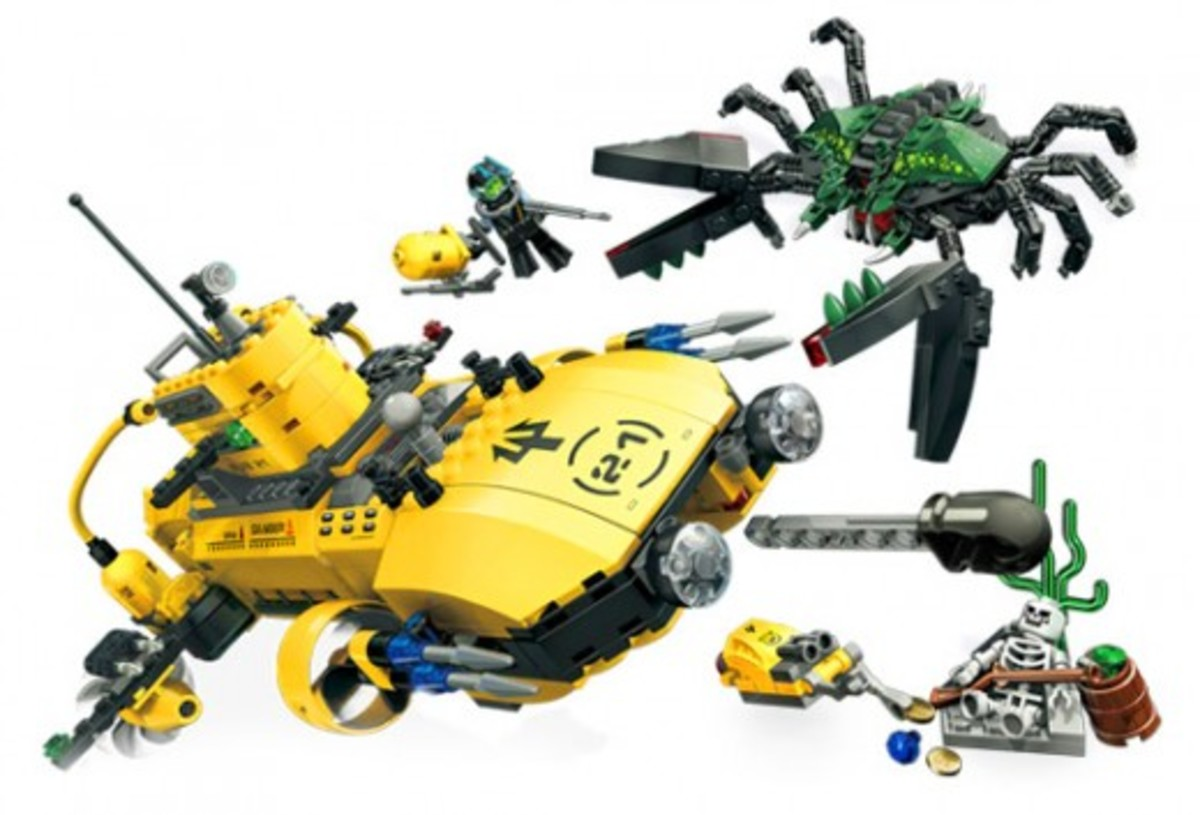 LEGO Aqua Raiders Crab Crusher 7774 Assembled
