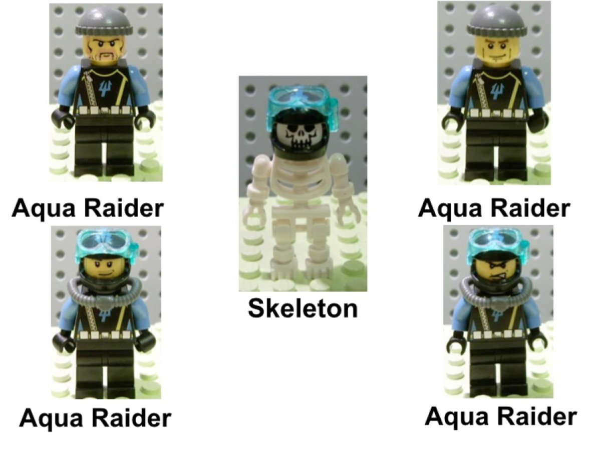 LEGO Aqua Raiders Aquabase Invasion 7775 Minifigures