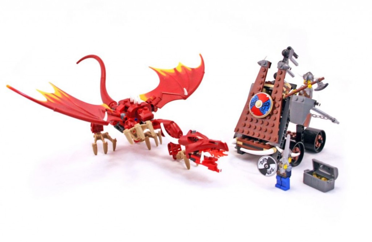 LEGO Vikings Viking Catapult Versus The Nidhogg Dragon 7017 Assembled