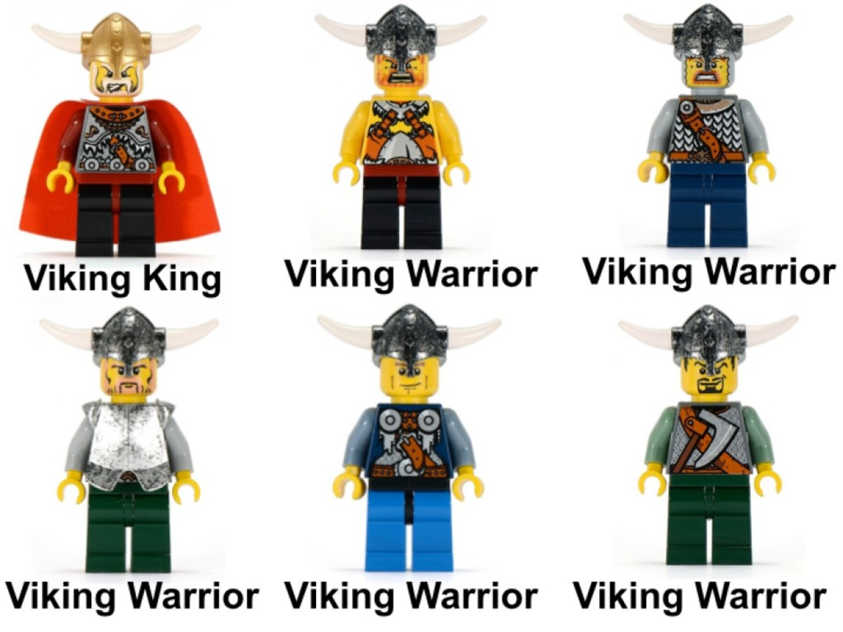 LEGO Vikings Viking Ship Challenges The Midgard Serpent 7018 Minifigures