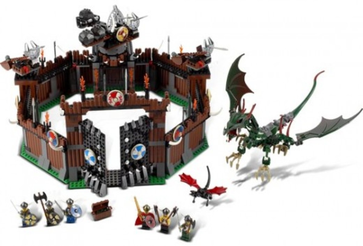 LEGO Vikings Viking Fortress Against The Fafnir Dragon 7019 Assembled