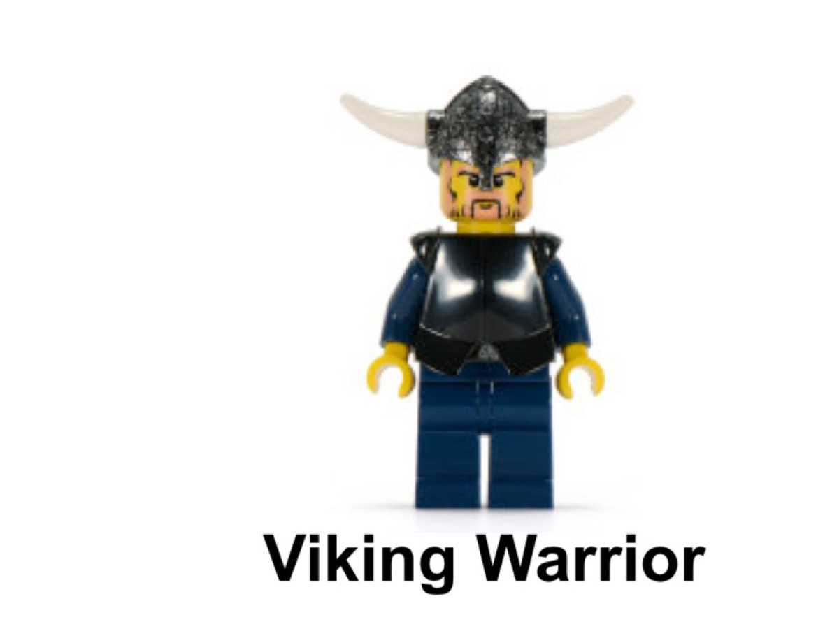 LEGO Vikings Viking Warrior Challenges The Fenris Wolf 7015 Minifigure