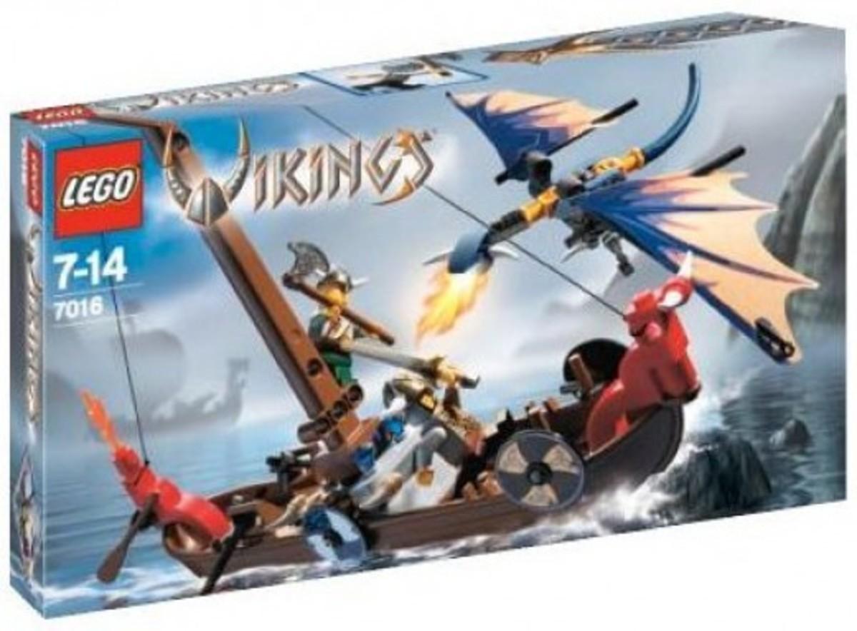 LEGO Vikings Viking Boat Against The Wyvern Dragon 7016 Box