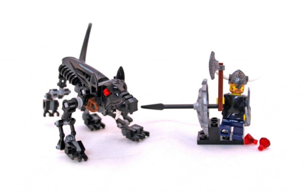 LEGO Vikings Viking Warrior Challenges The Fenris Wolf 7015 Assembled