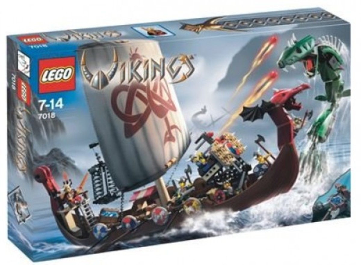 LEGO Vikings Viking Ship Challenges The Midgard Serpent 7018 Box