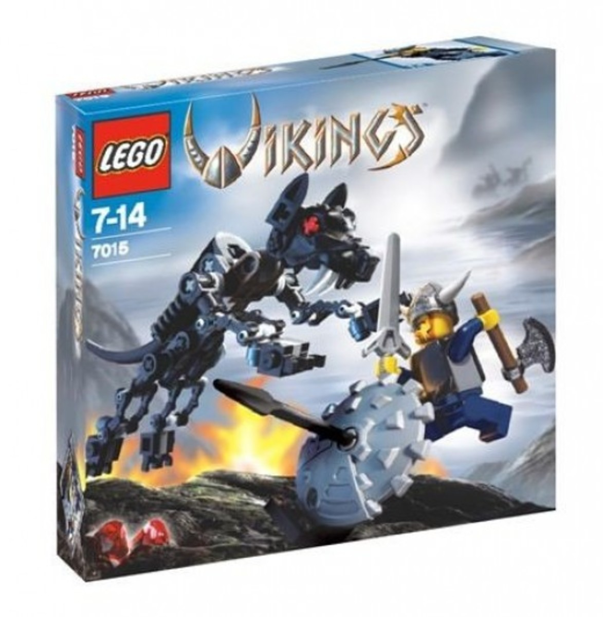 LEGO Vikings Viking Warrior Challenges The Fenris Wolf 7015 Box