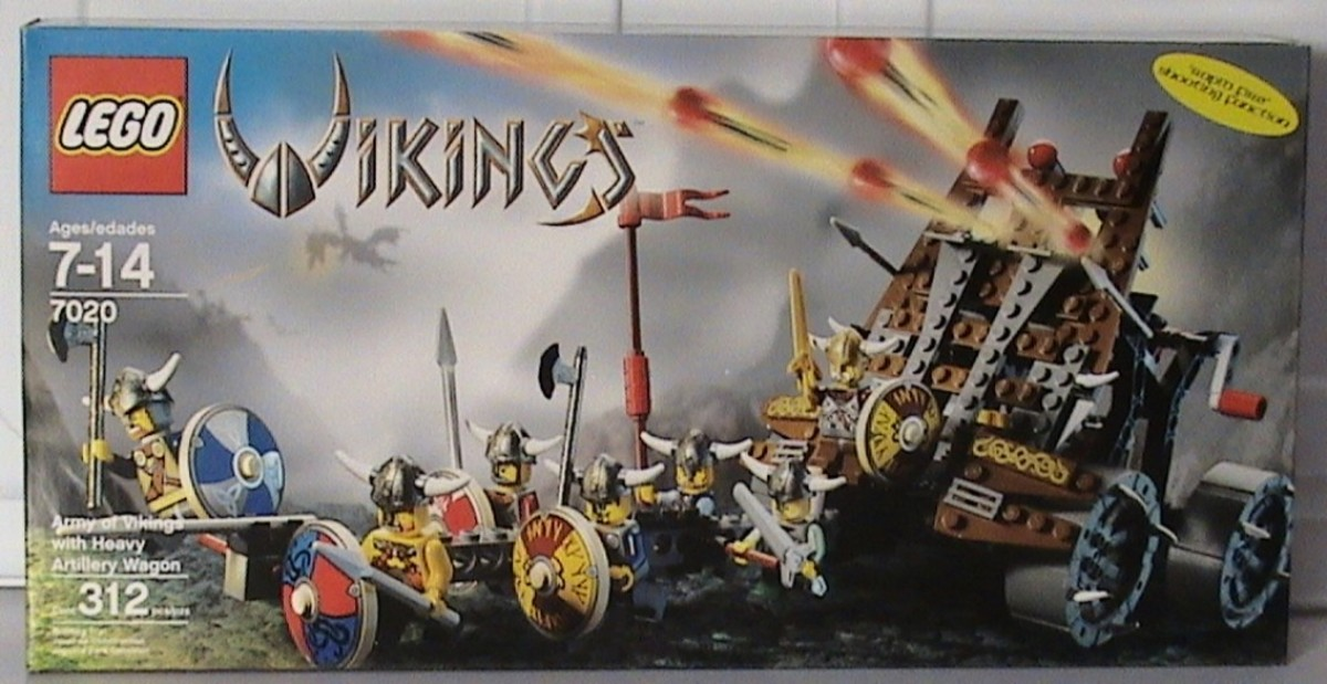 LEGO Vikings Army Of Vikings With Heavy Artillery Wagon 7020 Box