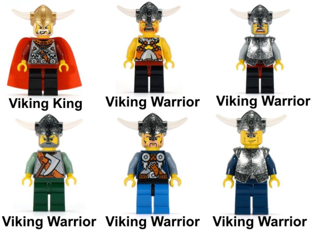 LEGO Vikings Viking Fortress Against The Fafnir Dragon 7019 Minifigures