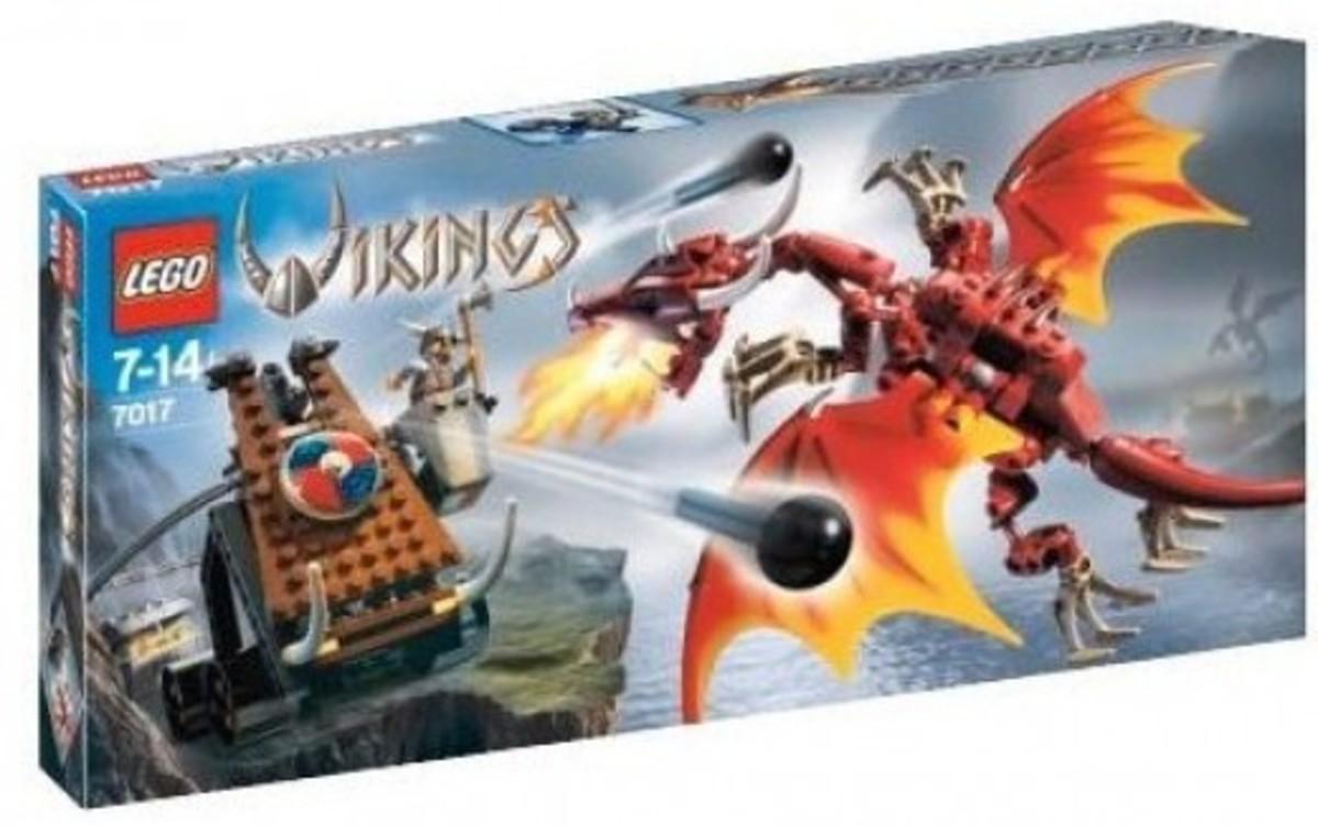 LEGO Vikings Viking Catapult Versus The Nidhogg Dragon 7017 Box