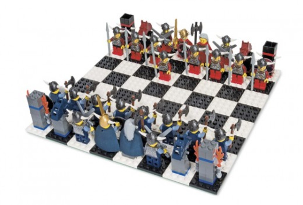 LEGO Viking Chess Set G577 Assembled