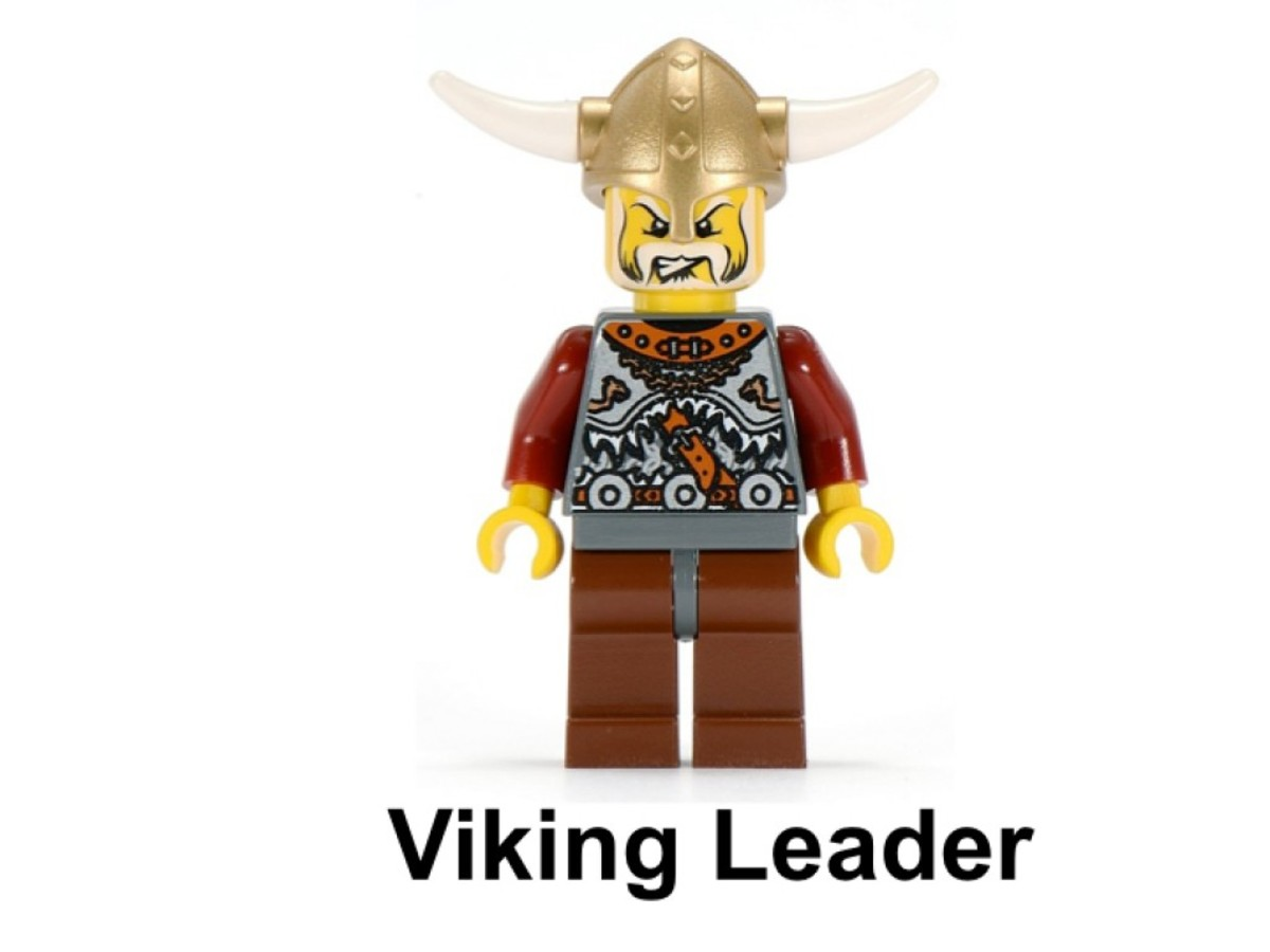 LEGO Vikings Army Of Vikings With Heavy Artillery Wagon 7020 Viking Leader Minifigure