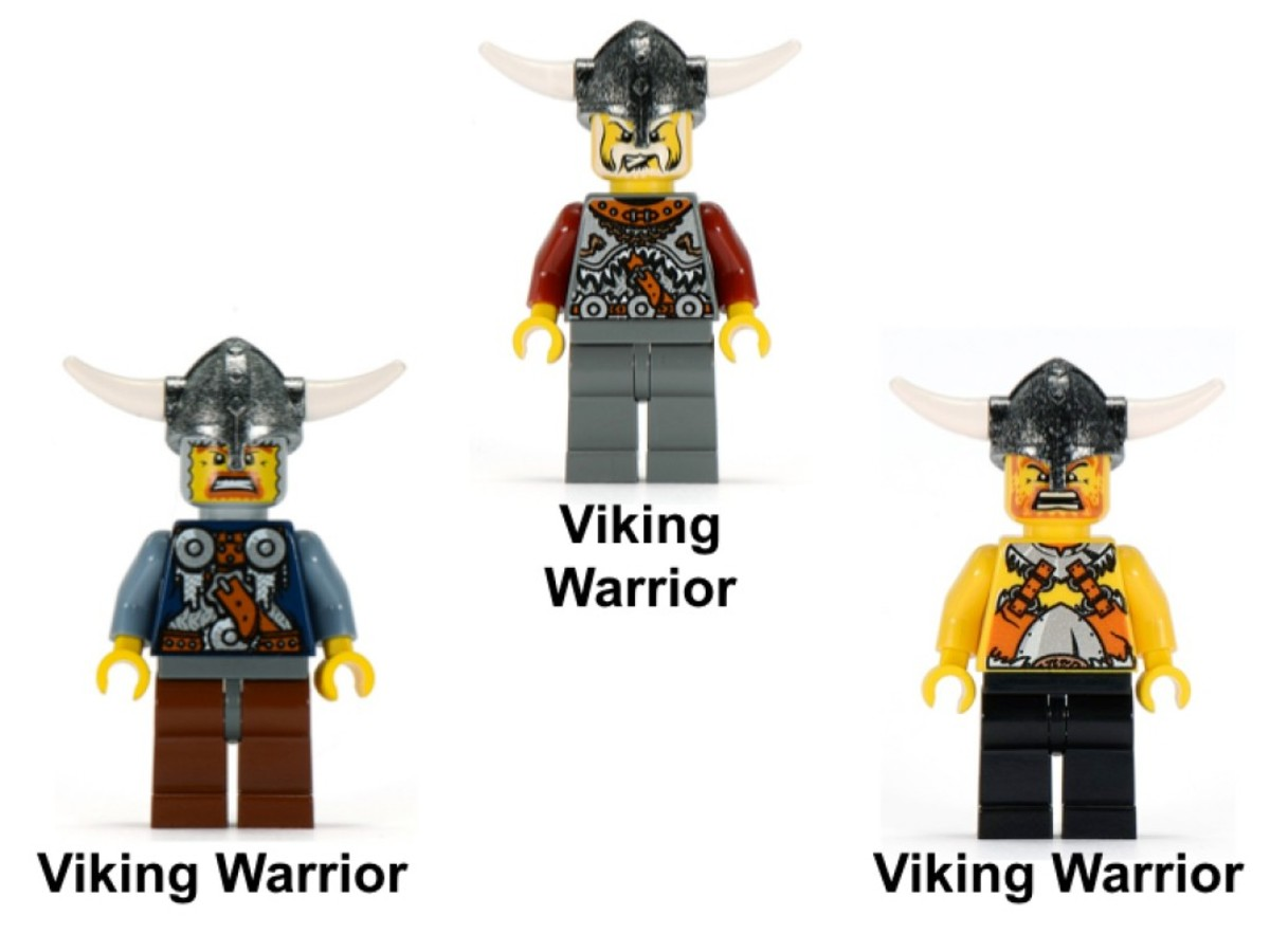 LEGO Vikings Viking Double Catapult Versus The Armoured Ofnir Dragon 7021 Minifigures