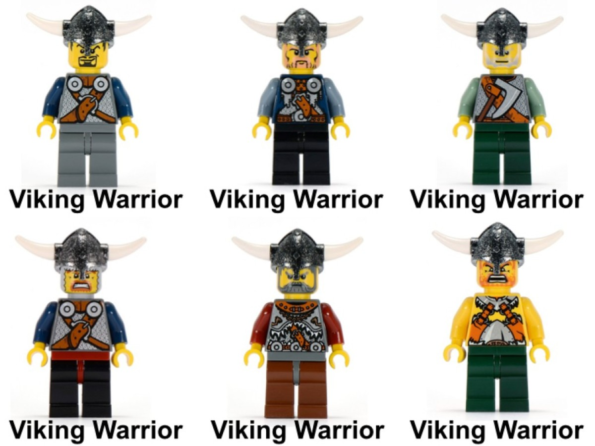 LEGO Vikings Army Of Vikings With Heavy Artillery Wagon 7020 Minifigures
