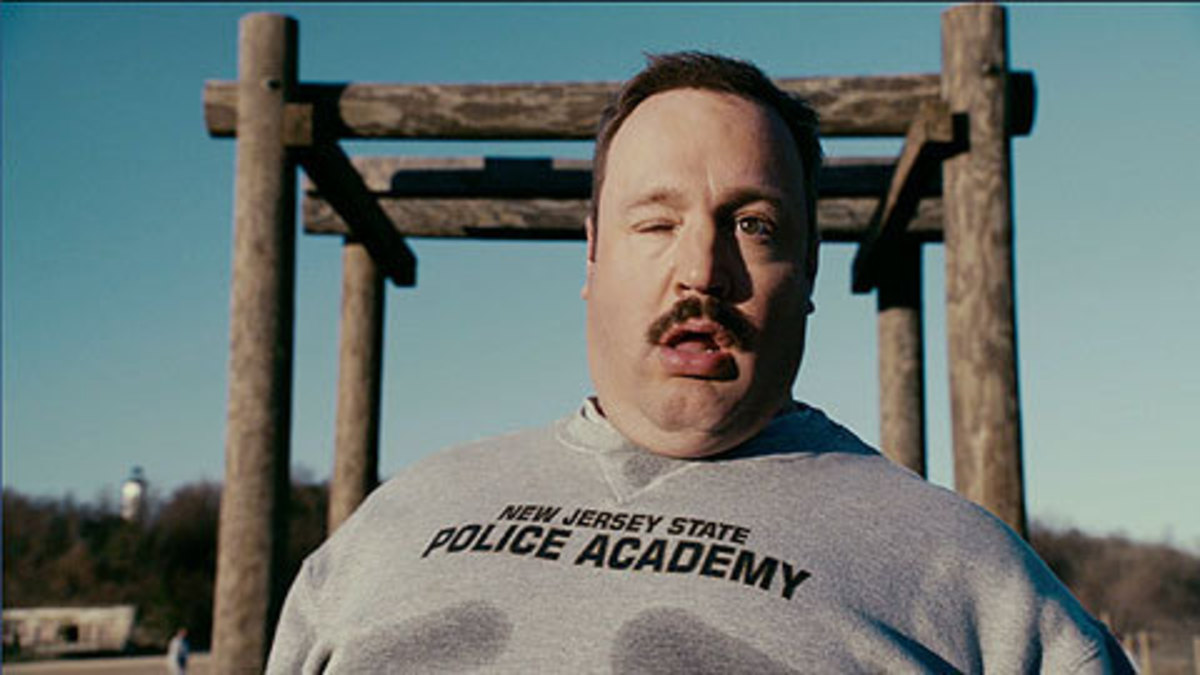 oh my god!  Kevin James must've read the reviews for this movie.  Oh no!