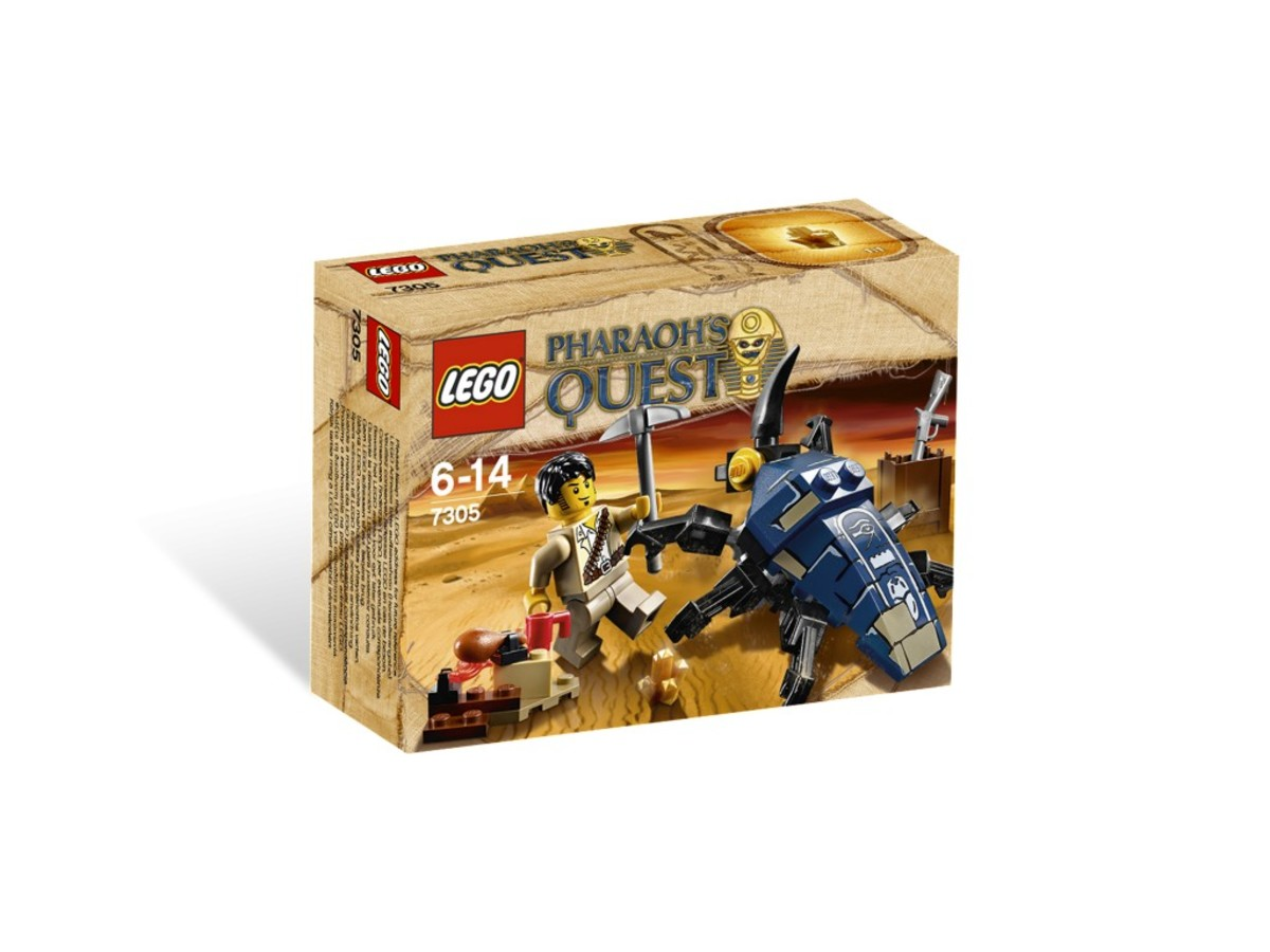 LEGO Pharaoh's Quest Scarab Attack 7305 Box