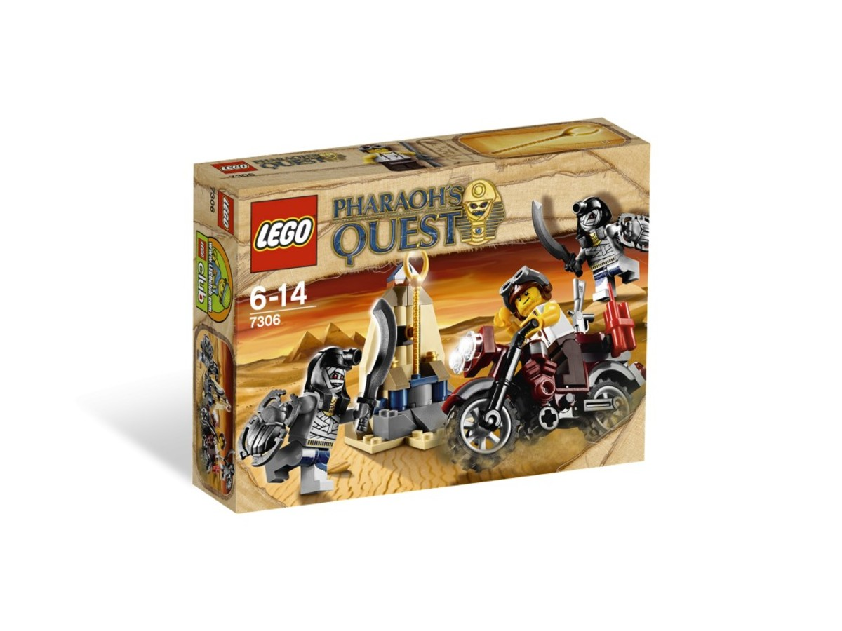LEGO Pharaoh's Quest Golden Staff Guardians 7306 Box