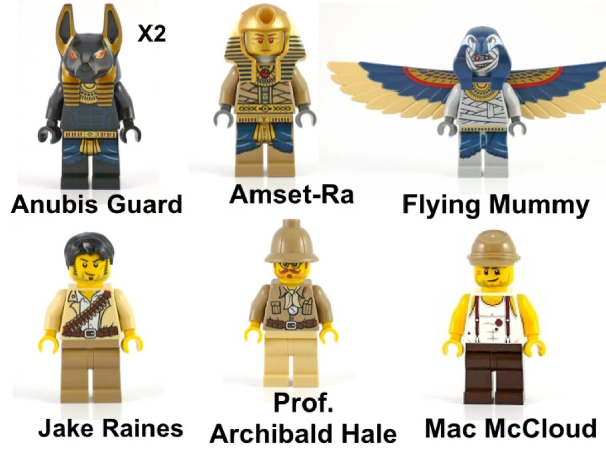LEGO Pharaoh's Quest Scorpion Pyramid 7327 Minifigures