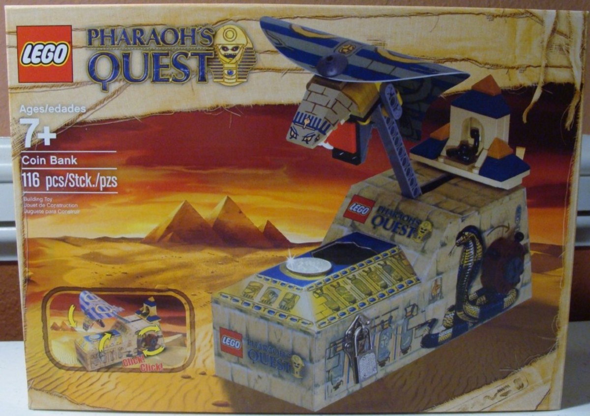 LEGO Pharaoh's Quest Pharaoh's Quest Coin Bank 853175 Box