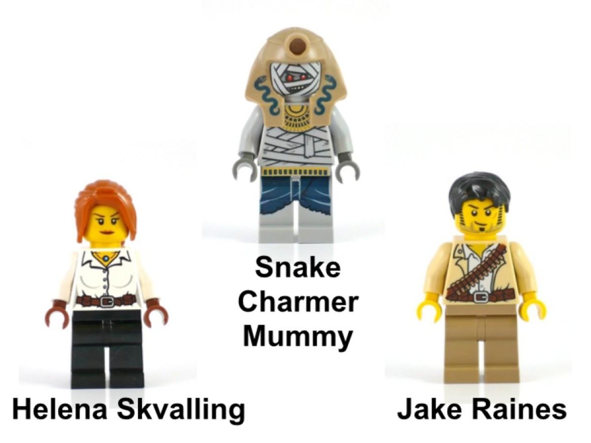 LEGO Pharaoh's Quest Cursed Cobra Statue 7325 Minifigures