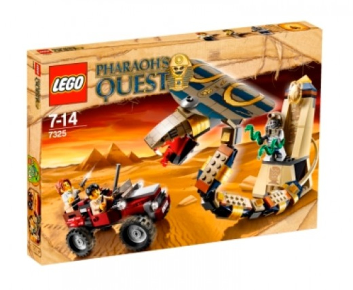 LEGO Pharaoh's Quest Cursed Cobra Statue 7325 Box