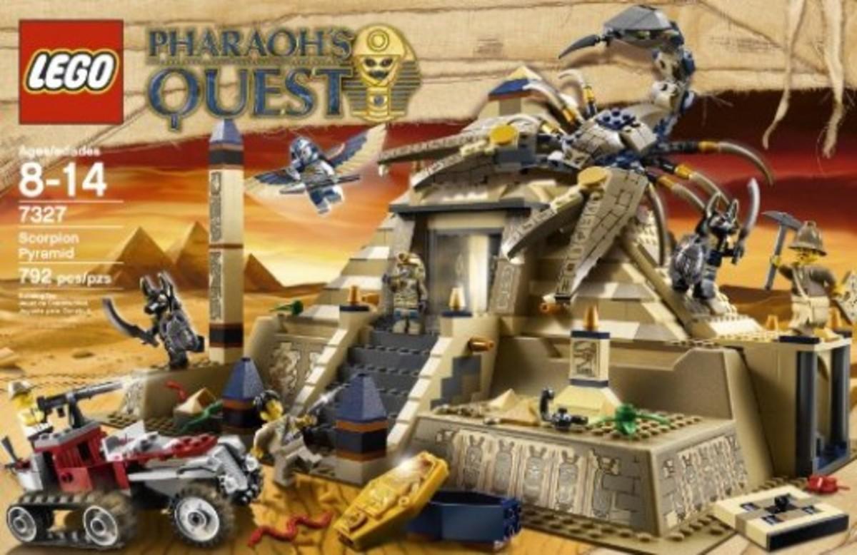 LEGO Pharaoh's Quest Scorpion Pyramid 7327 Box