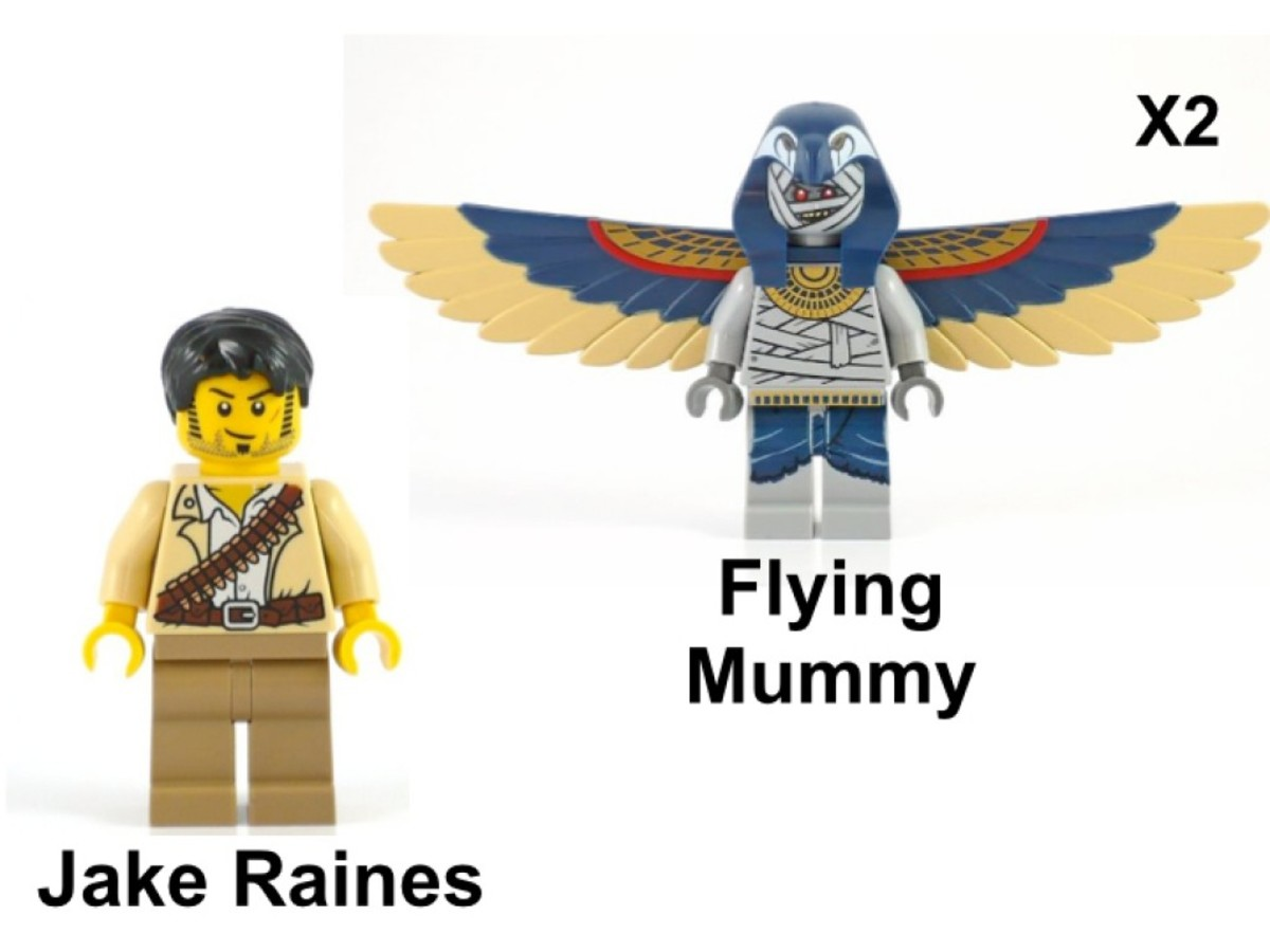 LEGO Pharaoh's Quest Flying Mummy Attack 7303 Minifigures