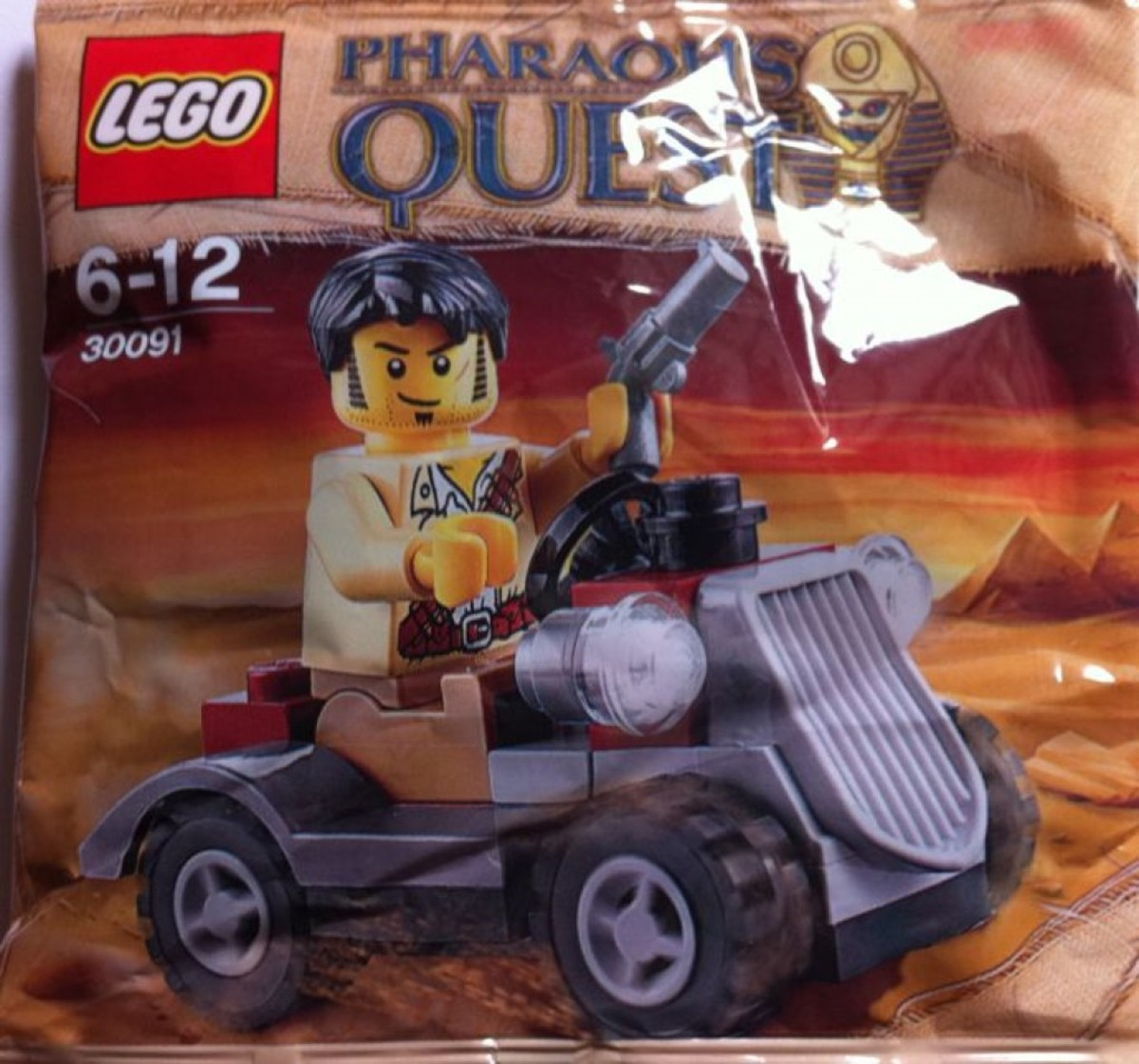 LEGO Pharaoh's Quest Desert Rover 30091 Minifigure Jake Raines Polybag