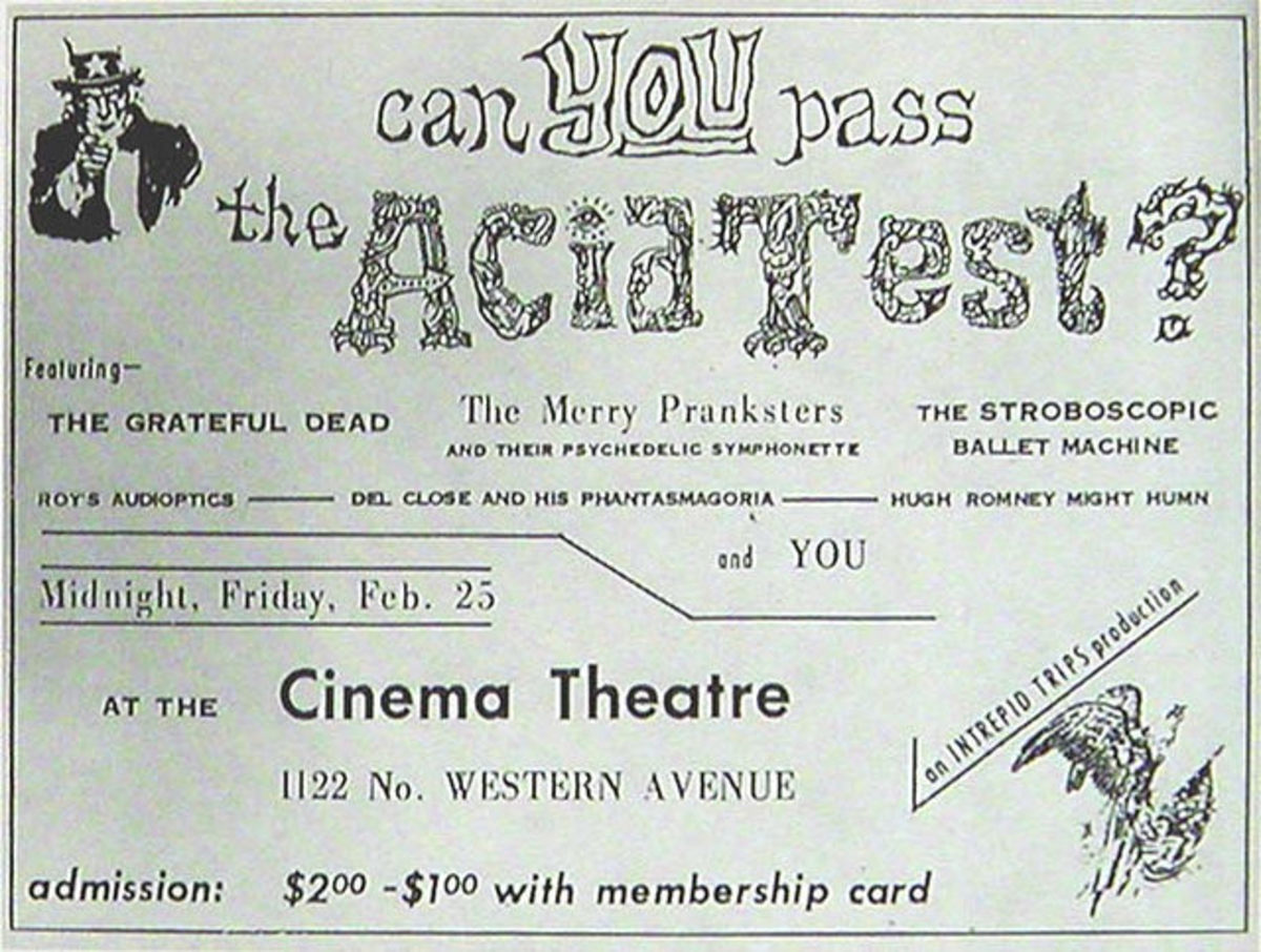 "The Grateful Dead and the Merry Pranksters Cinema Theatre ""Acid Test"""