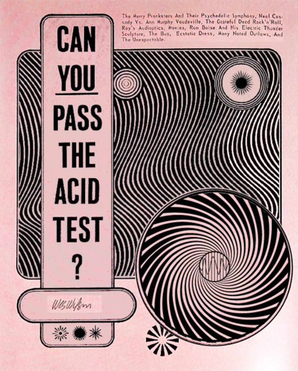 Can You Pass the Acid Test ? Wes Wilson Handbill