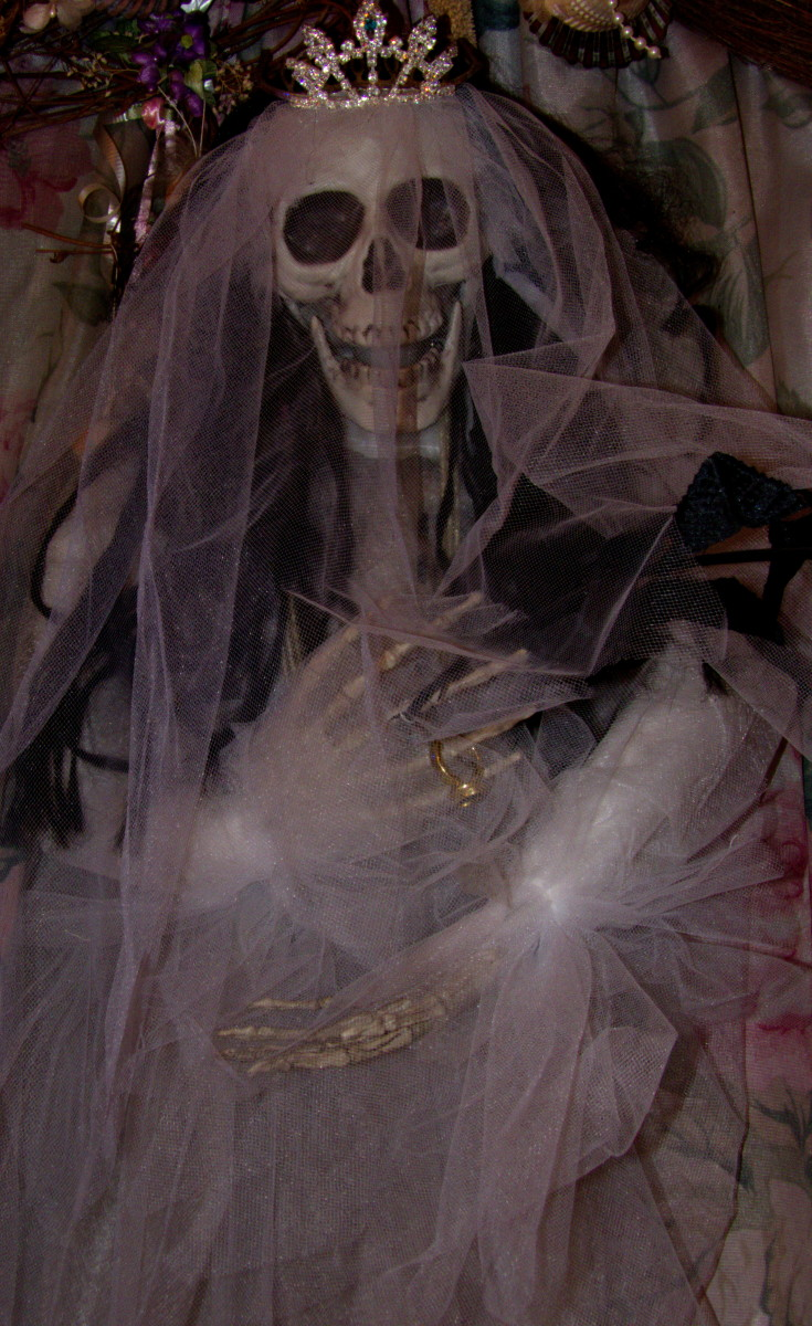 I love statues of her dressed as a bride and as she first approached me as a bride I honor that commitment.