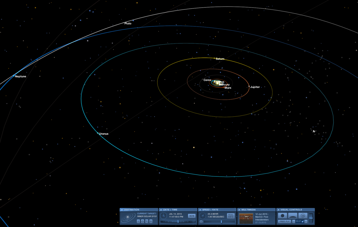I use this often for my articles on space, and there's a reason. You can view any part of the solar system, zoom in, scroll out, explore various missions. Be sure to click the ? Help toggle in Advanced Mode to learn keyboard navigation shortcuts.