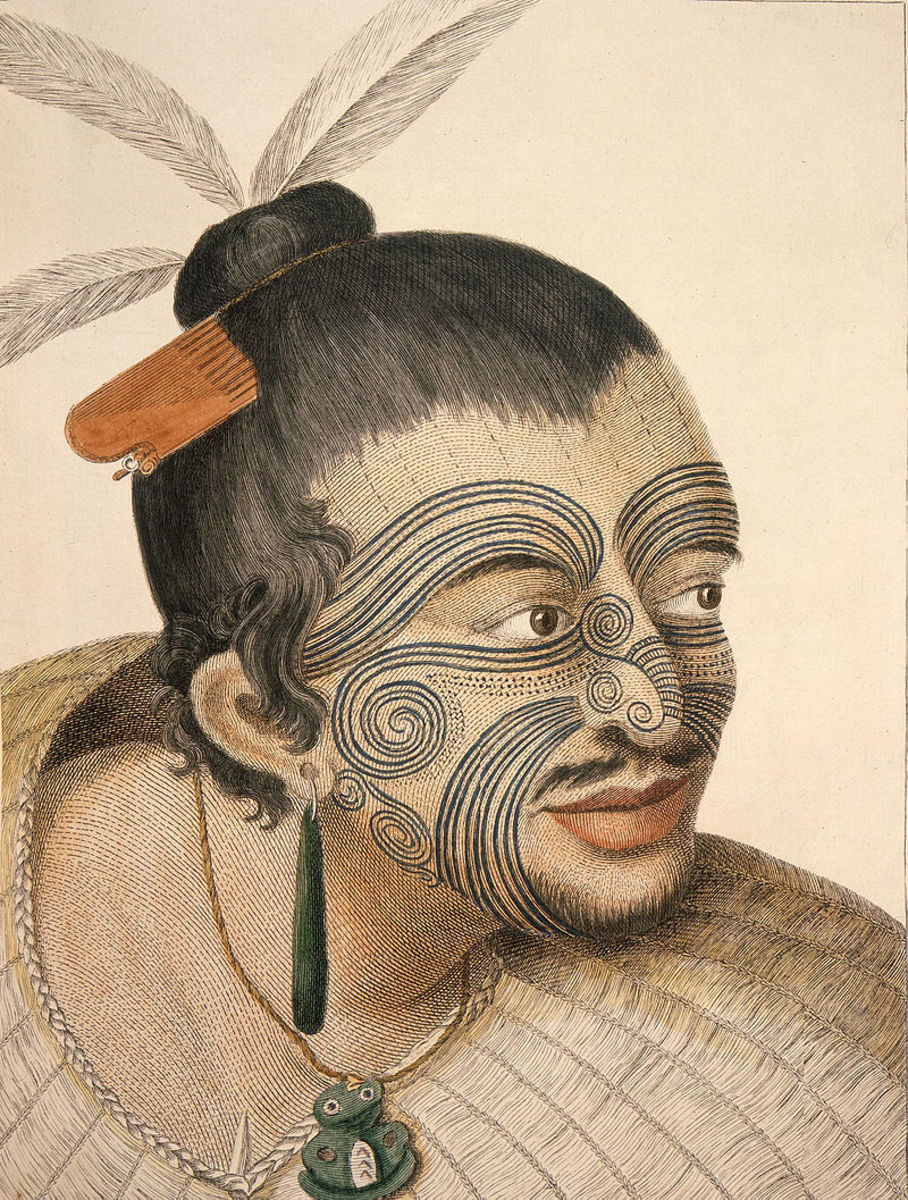 A Māori Chief with tattoos