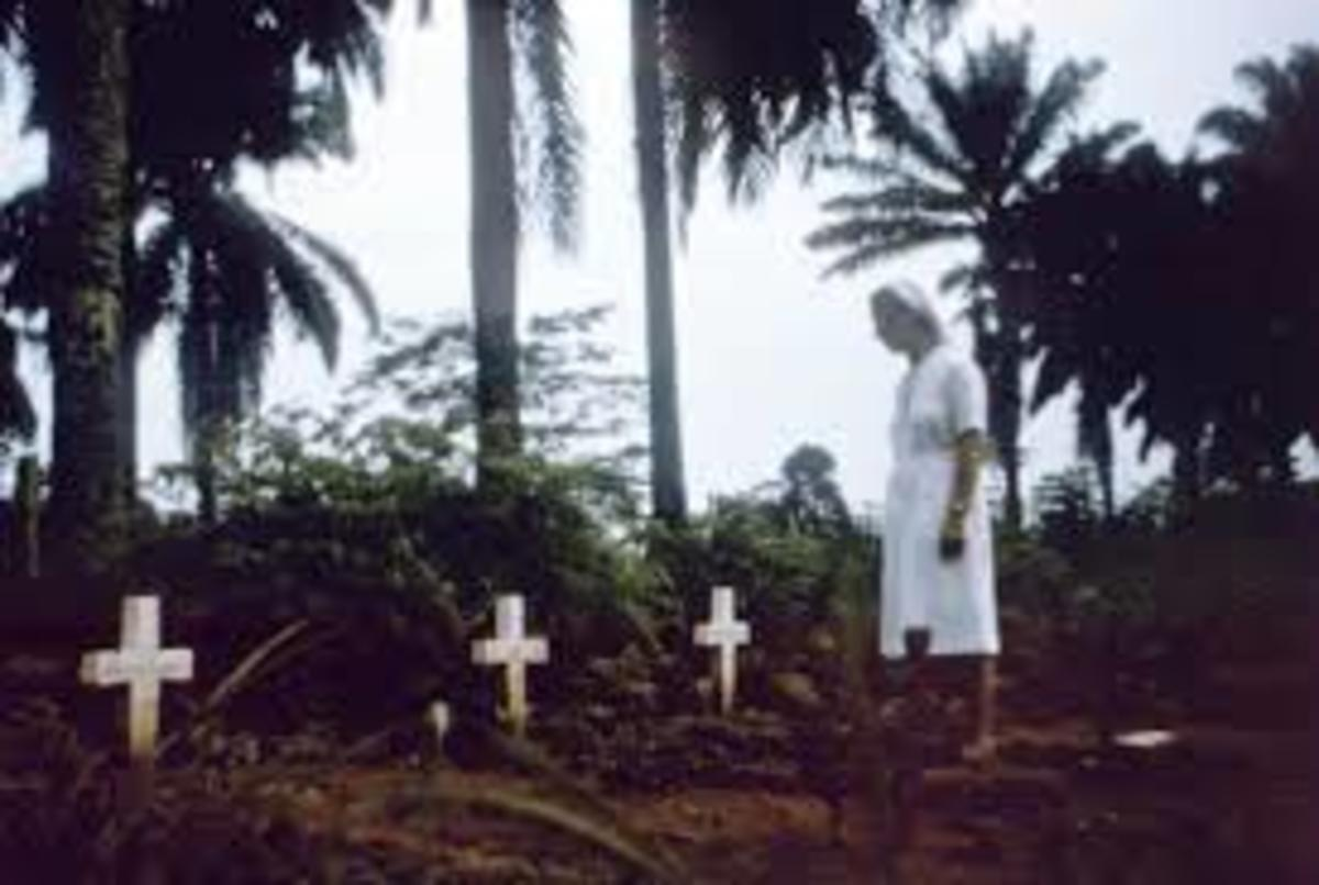 Nuns Burrying The Religious and health colleagues affect and effected by Ebola
