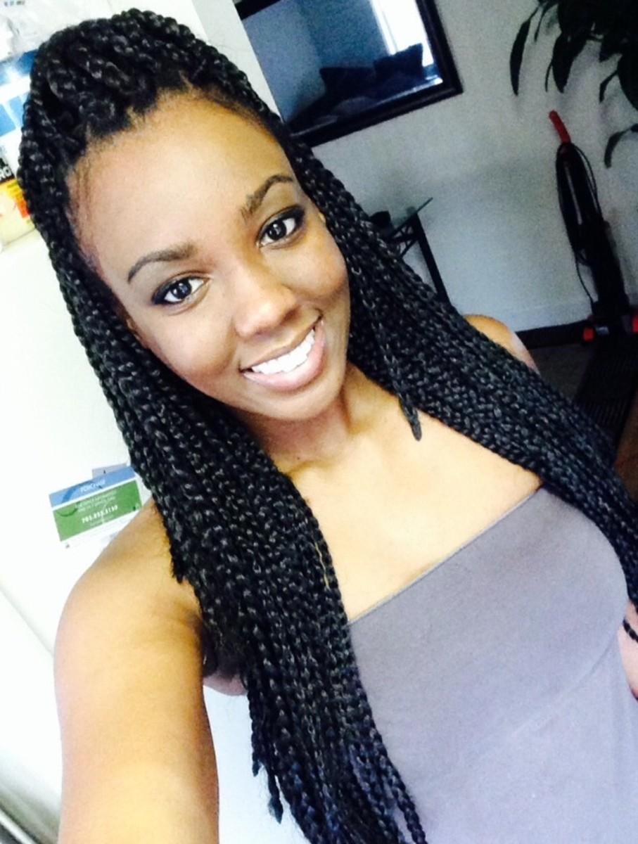How To Curl Box Braids Without Hot Water How To Curl Box