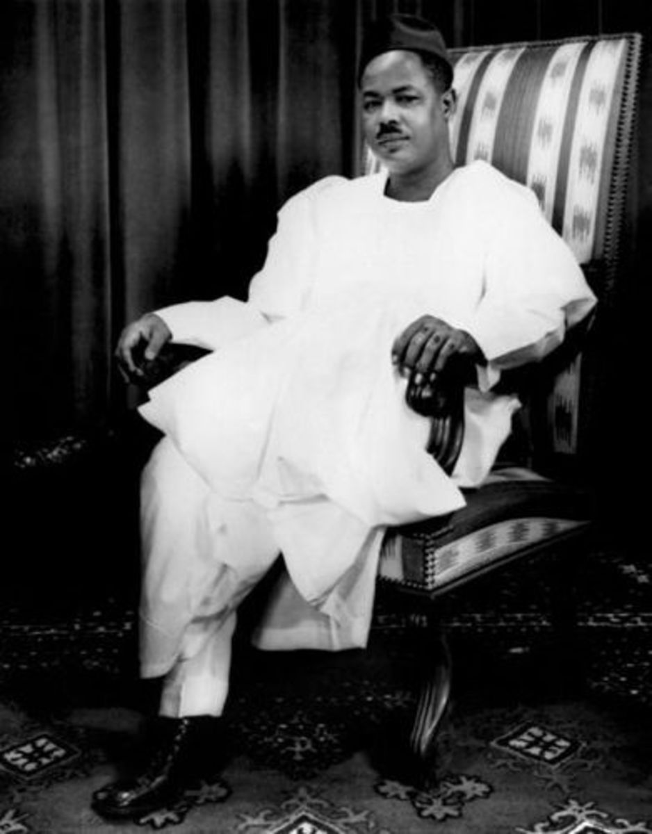 Ahmadou Babatoura Ahidjo, Nationalist, Pan-Africanist, freedom fighter and the first President of Cameroon.  He was one of the youngest Presidents of a newly independnent African State
