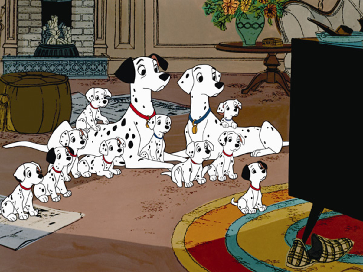 '101 Dalmatians' remains one of Disney's most beloved animated films - even they're watching it!