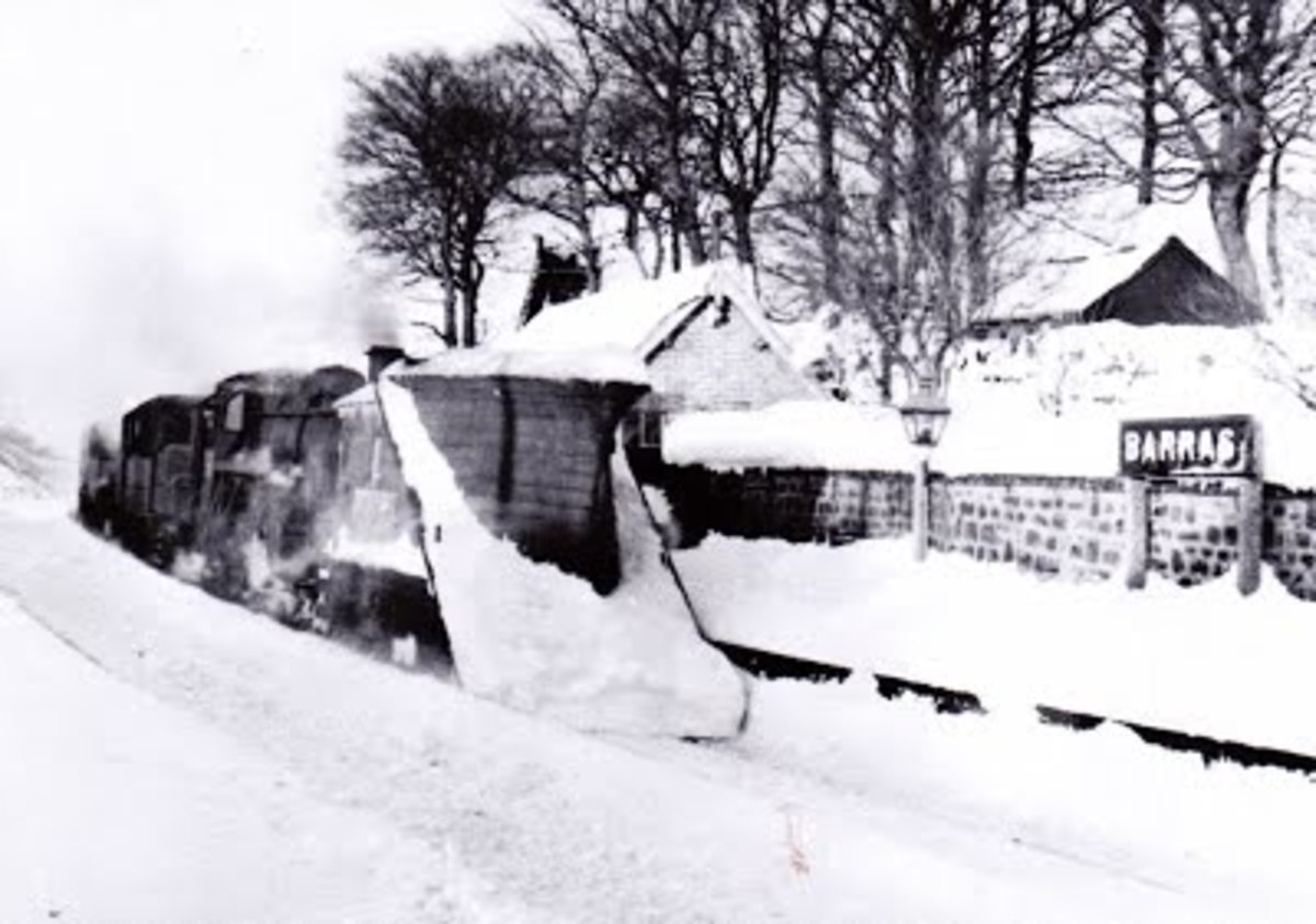 Snow plough on the Stainmore route at Barras (station site under the widened A66 Scotch Corner-Whitehaven road - see also image below)