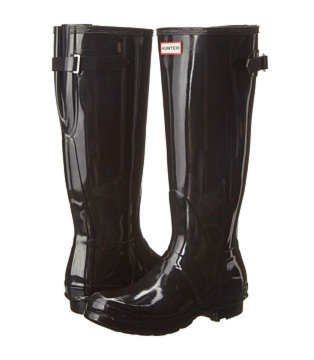 Hunter Original Back Adjustable Gloss - These have a calf Circumference: 16 1⁄4 in with an adjustable strap in back.