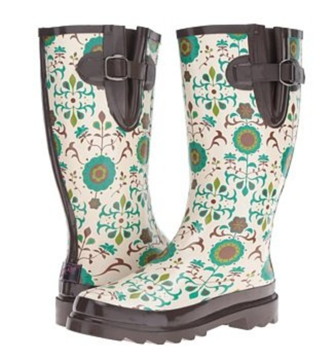 Go for a more fun style of wide calf rain boots when you want to add a little color to your look. This is a wonder example of just how a rain boot that fits a wider calf.