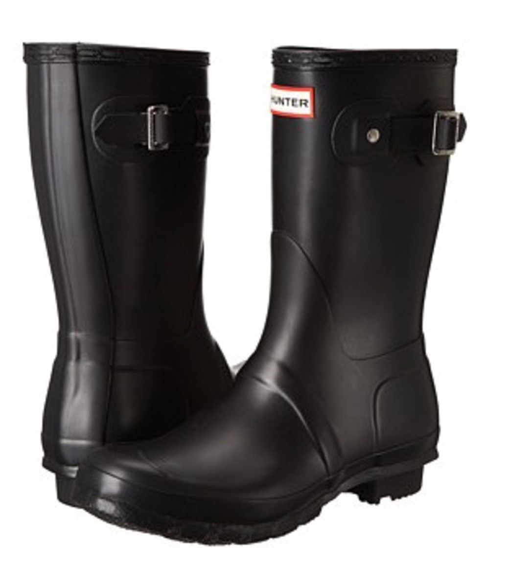 Black Wide Calf Rain Boots