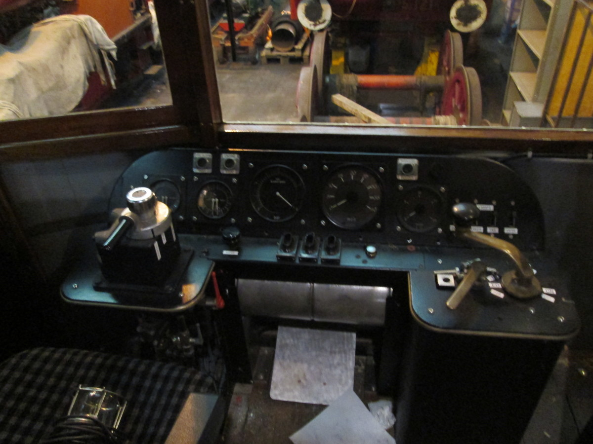 One of the two control panels in the autocar. This one is at the opposite end to the motor compartment with the passenger saloon between...