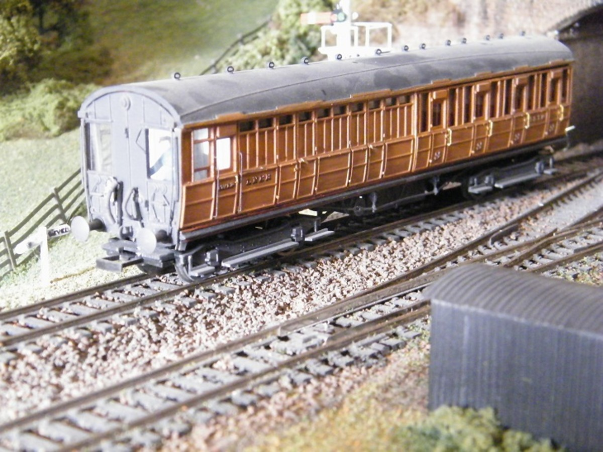 Ian Kirk model LNER Driving Trailer for autocoach train - these served everywhere between the Ongar branch near London and eastern Scotland. There was no need to run the engine around its two or three coach train as the driver walked to the other end